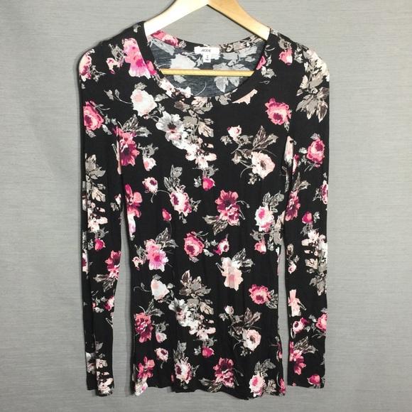 Ardene floral print long sleeve tee shirt